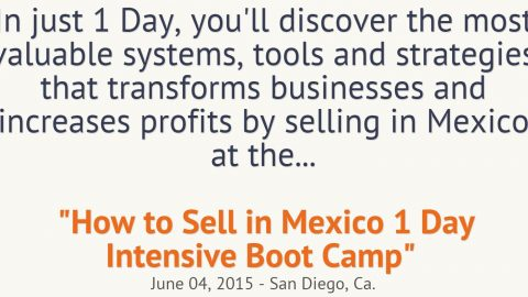 Export to Mexico – Meet me June 4th in San Diego