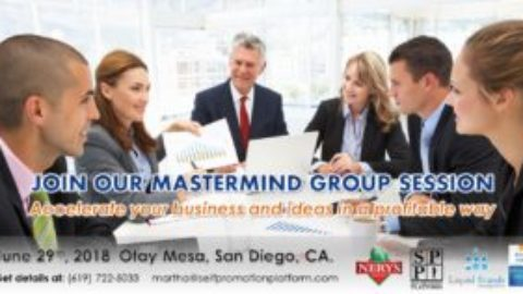 Join our upcoming Mastermind Group Session on Jun/29/2018 in San Diego, CA.